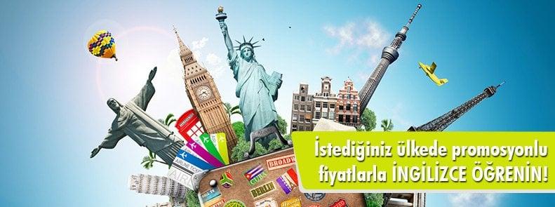 İstediğiniz ülkede promosyonlu fiyatlarla İngilizce öğrenin!