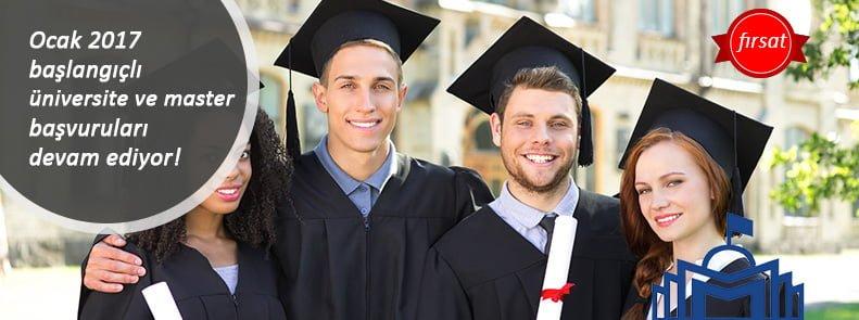 Ocak 2017 başlangıçlı üniversite ve master  başvuruları devam ediyor!