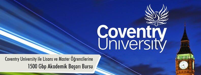 Coventry University ile Lisans ve Master Öğrencilerine 1500 Gbp Akademik Başarı Bursu