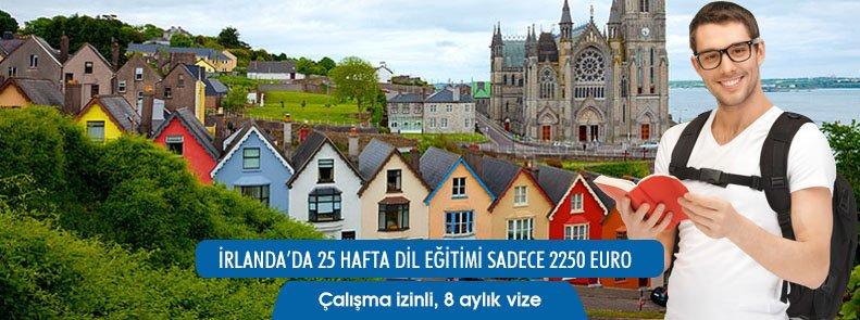 İrlanda'da 25 Hafta İngilizce Dil Eğitimi Sadece 2250 Euro