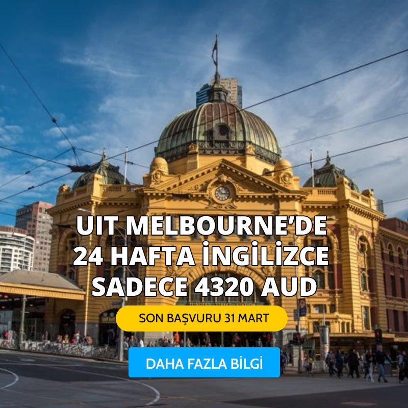 UIT MELBOURNE'DE 24 HAFTA İNGİLİZCE SADECE 4320 AUD