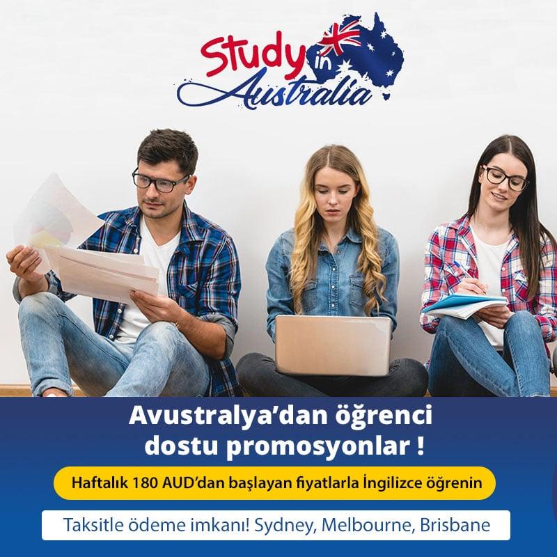 Avustralya'dan öğrenci dostu promosyonlar!