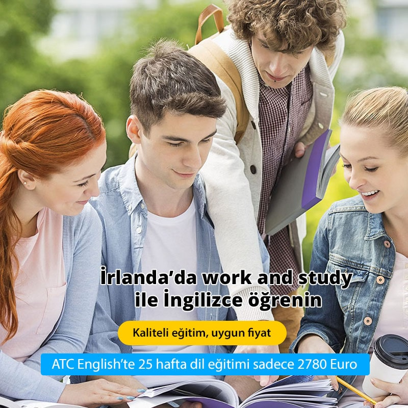 - İrlanda'da work and study ile İngilizce öğrenin